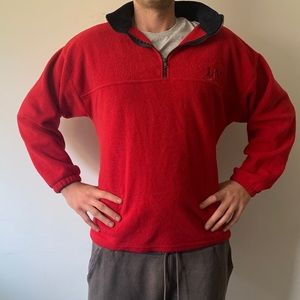 Super Comfortable zip-up v-neck fits Large